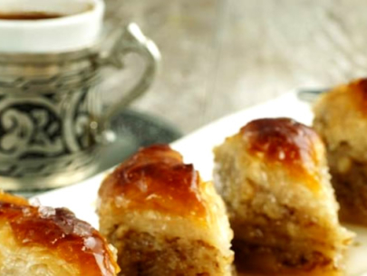 Baklava and Turkish Coffee - Kurban Bayram Festival