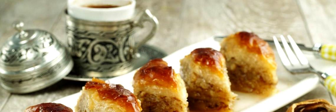 Baklava and Turkish Coffee - Kurban Bayram Festival