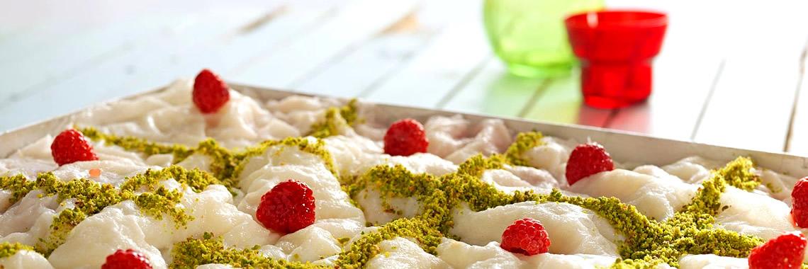 Turkish Dessert Güllaç - Ramazan Bayram Festival